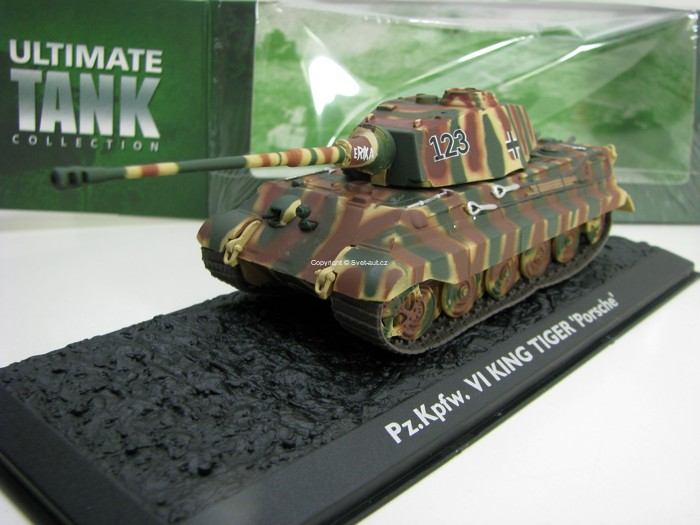 Tank Pz.Kpfw. VI Kink Tiger Porsche 1:72 Ultimate tank Collection Atlas